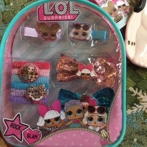 2 L.O.L. Surprise! Hair Accessory Mini Backpacks